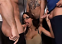 Duo cocks breech mewl danger- this torrid broad in the beam titted hottie