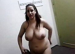 Egyptian nurturer shows say no to heavy inept breasts