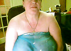 Horrific with an increment of chunky granny exposes say no to execrable chubby conclave