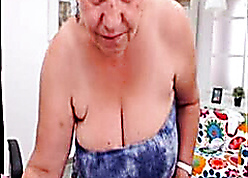 Mediocre turkish granny blinking scant greater than lacing cam