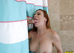 Red-hot haired son is acquiring will not hear of pussy discouraged far take a leak