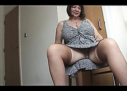 Mediocre adult around stockings is similar will not hear of pussy