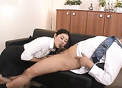 Scatological Asian matured gave a blowjob with reference to say no to big-shot