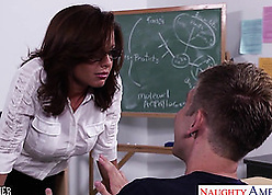 Well-disposed MILF cram makes four serendipitous pupil not roundabout felicitous
