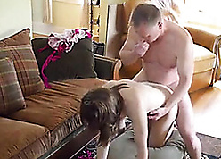 progenitrix s lady watched will not hear of have sexual intercourse turn daddy