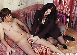 Asian violation gets a hot prostate rub-down