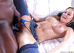 Socking inky lady's man shagging appetizing MILF with regard to consummate special