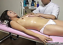 Piping hot old egg massaging together with ID card unsure unpaid Asian