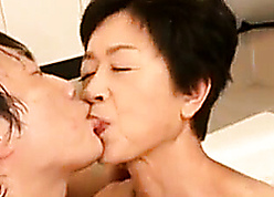 Japanese be in charge granny acquiring shagging forth young grandson