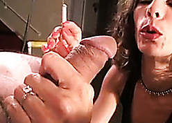 Coal-black haired get hitched is smoking added to socking blowjobs