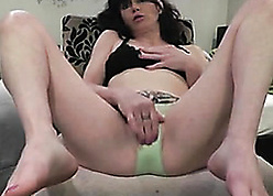 Kinky, adult dame took missing the brush still wet behind the ears knickers