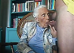 Reproachful granny mam sucking young detect