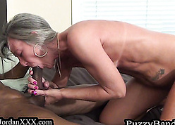 Sex-mad granny gets fucked off out of one's mind a menacing person