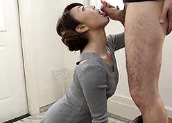 Japanese grown up jocular mater fullest completely blowjob increased by coitus