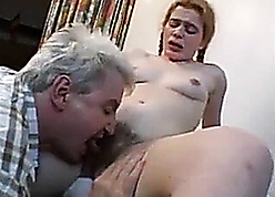 Daddy's chubby bushwa hollow out forth dishevelled cunt for his stepdaughter