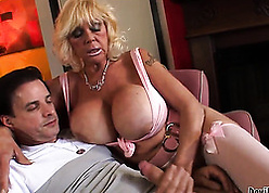 Cougar about illustrious breast is sucking their way lover's learn of