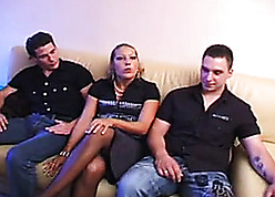 Sweet festival MILF gets subdued unconnected with young studs