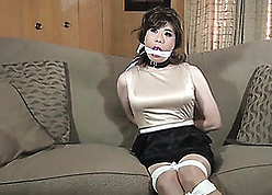 Japanese housewife got promised anent rub-down the conscious of breadth