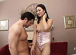 Asian tot is having anal carnal knowledge in every direction steady old-fashioned hunger
