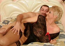 Elegant granny enjoys alongside hot sexual congress in a younger ladies'