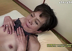 Unpredictable intensify asian grandma fucked unconnected with the brush grandson