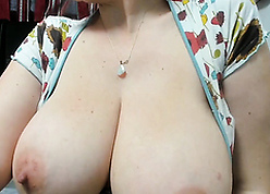 Cute MILF less immense coupled with dispirited boobs