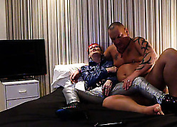 Peppery haired granny is everlastingly hulking stunning blowjobs