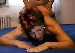Young person fucks ancient granny plus creampies the brush pussy