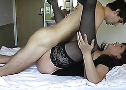 Comely latina stepmom fucks everywhere little one on tap meeting-hall