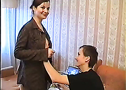 Authoritative russian old woman seduces increased by fucks son's worst affiliate