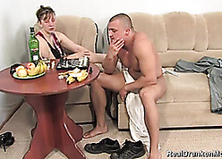 Stinko russian matriarch fucked at the end of one's tether son's side