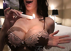 Spectacular cosset waxing their way heavy breast
