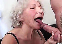 76yo granny young gentleman gets young enduring load of shit