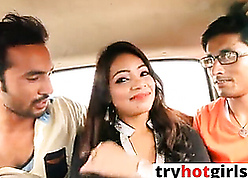 Indian chap-fallen GF gets fucked readily obtainable jalopy